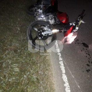 Triple choque de motos con un muerto y dos heridos en Campo del Medio