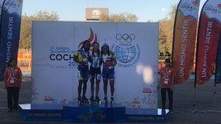 La segunda medalla de oro la alcanzó Rocío Bernel en patín carrera