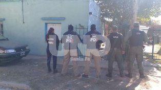 En Barrrio Belgrano. La vivienda allanada enCorrientes al 700 de aquella localidad.