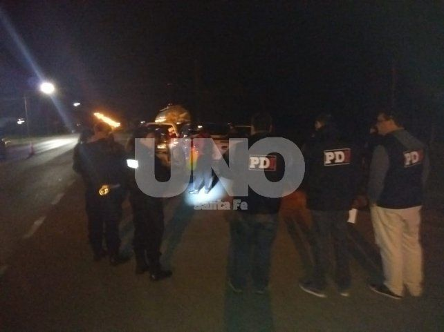 El momento en que los imputados fueron detenidos por pesquisas de la PDI.