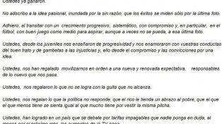 Germán Lerche reapareció con una carta pública a la Selección Argentina