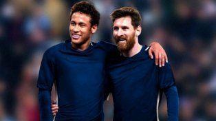 Messi y Neymar cambian goles por comida