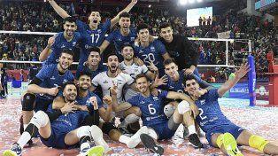 Argentina obtuvo un cotizado triunfo ante Italia por la Volleyball Nations League