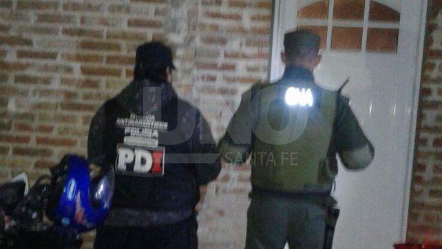 Allanamientos en Rafaela, Esperanza y Santa Fe, con ocho detenidos y secuestro de drogas
