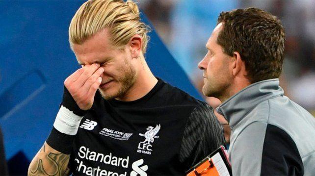 Karius sufrió una conmoción cerebral en la final de la Champions