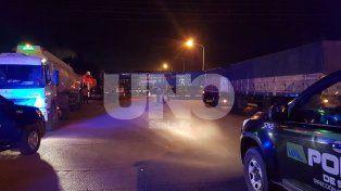 Choque sin heridos entre un camión y un tren en la ciudad de San Lorenzo