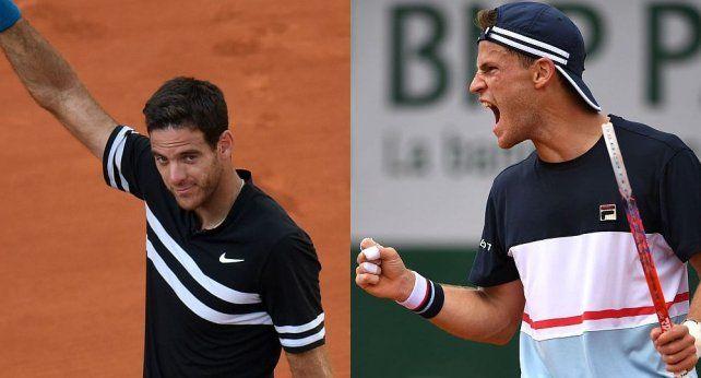 Del Potro y Schwartzman buscan las semifinales de Roland Garros