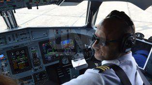 Interior. El aeronave es de última generación.