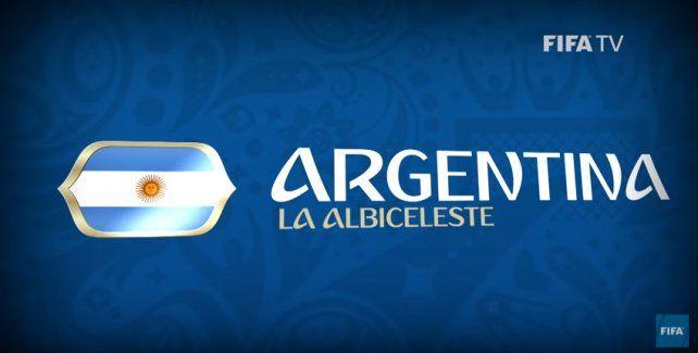 Mirá el video de cómo la FIFA presenta a la Selección Argentina