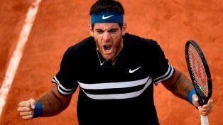 Del Potro se metió en las semifinales de Roland Garros
