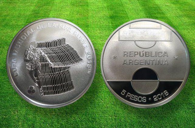 El Banco Central aprovecha el Mundial para presentar la nueva moneda de 5 pesos