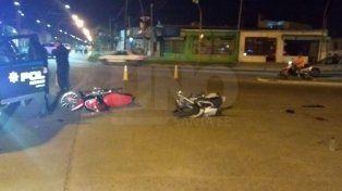 Chocaron dos motocicletas en el norte de la ciudad y falleció un joven