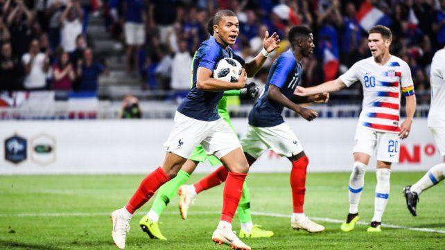 Francia empató con Estados Unidos y dejó dudas