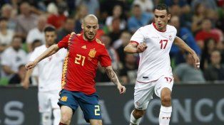 España le ganó a Túnez y llega  a Rusia con mucha confianza