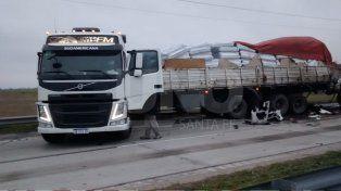Un choque entre camiones terminó con uno de los conductores fallecidos