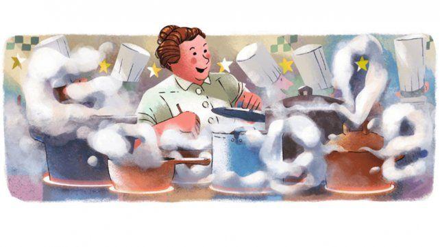 Google homenajea a La Madre de la cocina francesa tradicional