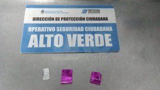 Alto Verde: atraparon a un adolescente con 18 dosis de cocaína
