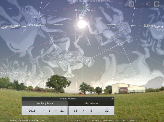 Esta imagen muestra al Sol el día del solsticio de junio o de invierno para el hemisferio sur