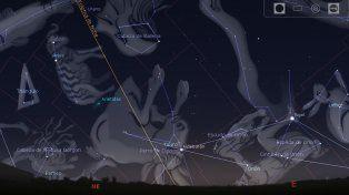 El momento de producirse el solsticio de junio o invierno para el hemisferio sur