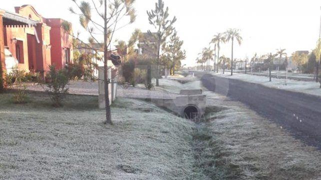 Foto tomada por un lector en el barrio privado Aires del Llano.
