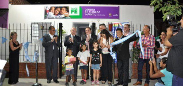 Así se inauguraba en abril de 2017 el primer Centro de Cuidado Infantil (CCI) en el paraje Ángel Gallardo