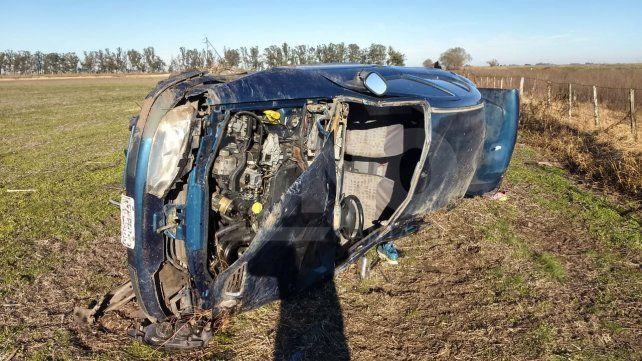 Vuelco fatal: el conductor falleció y su acompañante está grave