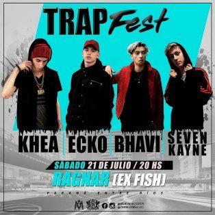 llega a parana el primer festival nacional de trap