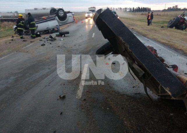 Violento choque con un tractorista herido al norte de Suardi