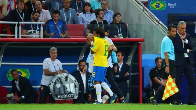 Marcelo sufrió un espasmo en la espina dorsal