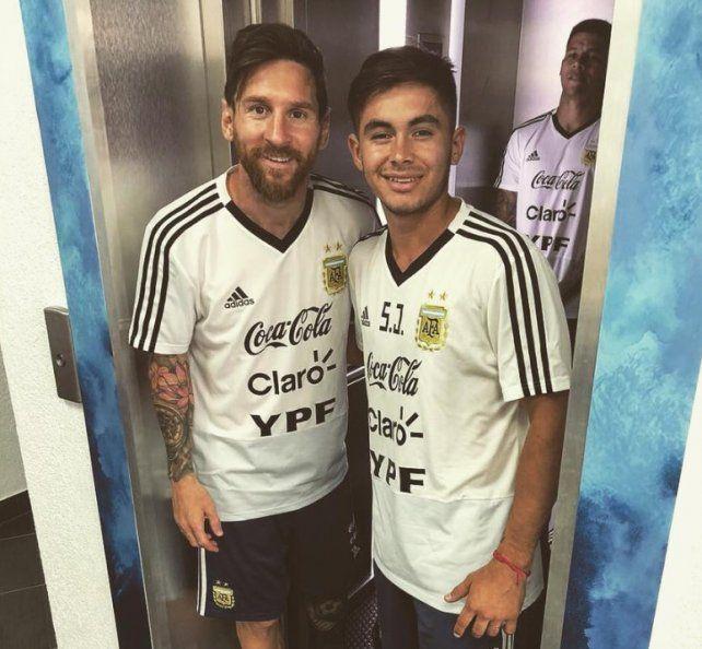 Brian Galván se dio un gusto con Messi