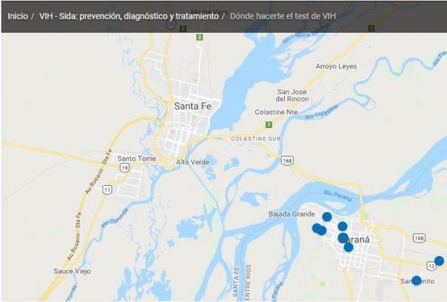 VIH/sida: Nación publicó un mapa con los lugares para test gratuitos y olvidó a Santa Fe