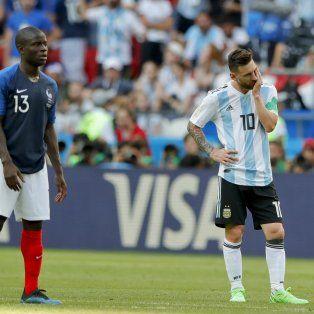 argentina perdio ante francia y se despidio del mundial con una palida imagen