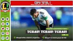 Así reflejaron los medios del mundo la eliminación de Argentina
