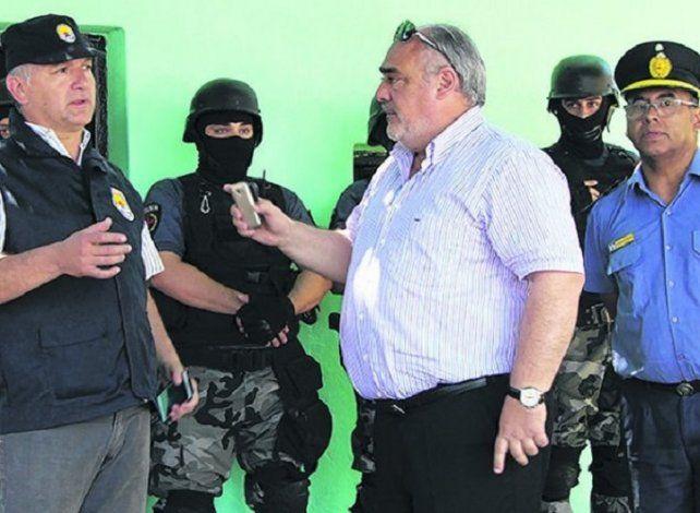 Escándalo. En el operativo el gobernador pidió la detención del jefe santafesino a cargo del procedimiento