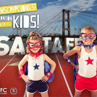 ¡imperdible! llega la maraton santa fe kids