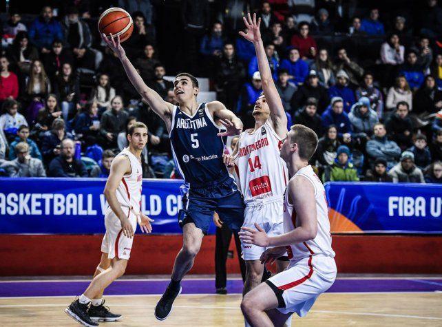 Argentina perdió con Montenegro y jugará por el 9º lugar
