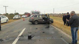 Impacto. Así quedó el automóvil tras el terrible accidente.