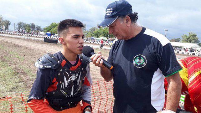 Romero (izq) protagonizó un fuerte accidente y falleció en un nosocomio de la localidad cordobesa de Morteros.