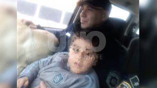 Rescataron a un nene de cuatro años que deambulaba con su perra en la circunvalación rosarina