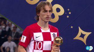 Luka Modric, el mejor jugador del Mundial de Rusia 2018