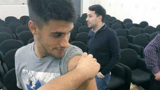 los jugadores de colon se vacunaron contra la fiebre amarilla
