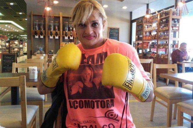 Todo listo para una charla motivacional y una clase de boxeo de Alejandra Oliveras