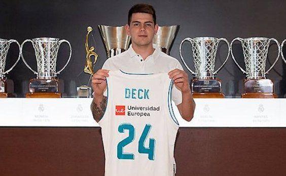Gabriel Deck fue presentado como nuevo jugador de Real Madrid