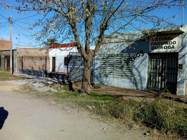 Esta es la sede de la vecinal Facundo Quiroga