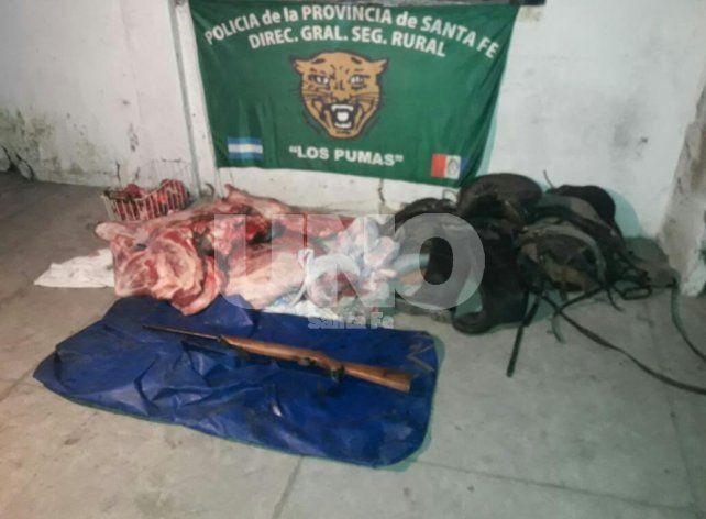Florencia: cayó una gavilla de cuatreros que robaron y faenaron un novillo