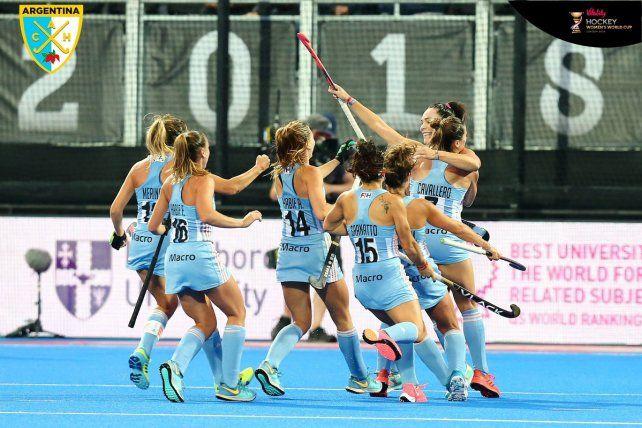 Las Leonas se clasificaron a los cuartos de final del Mundial de Londres