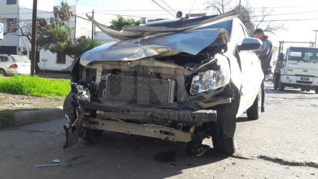 Fuerte accidente en barrio Fomento 9 de Julio