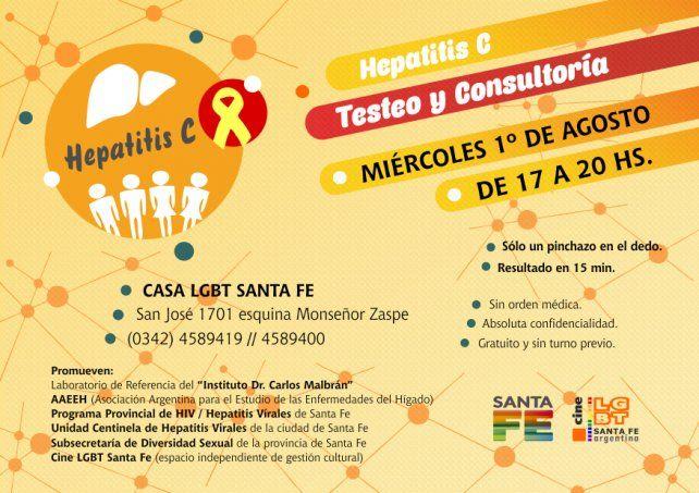 Hepatitis C: testeo y consejería en la casa LGBT Santa Fe