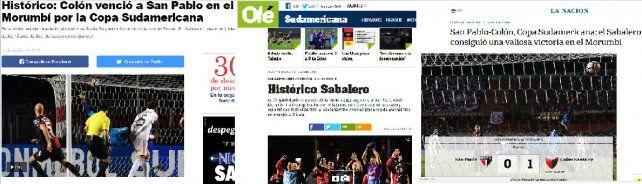 Así reflejaron los medios nacionales la épica victoria de Colón