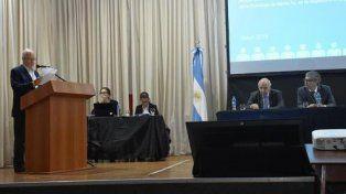 Lamberto expuso en la audiencia pública realizada el 10 de mayo para tratar este proyecto.